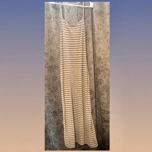 Stripes Bodycon Maxi Dress SM